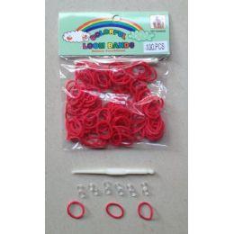 144 Units of 100pk Loom Bands [red] - Bracelets