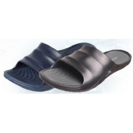 24 Units of Men's Shower Slipper Assorted Colors