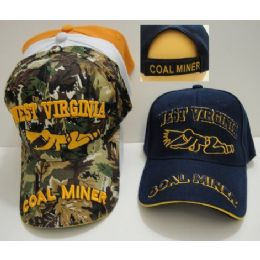 24 Units of West Virginia-Coal Miner - Military Caps
