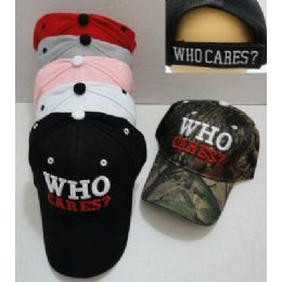 24 Units of WHO CARES? Hat - Military Caps