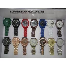 24 Units of HEAVY METAL MENS WATCHES - Men's Watches