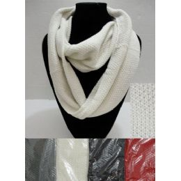 72 Units of Knitted Loop Scarf [Tight Knit] - Winter Sets Scarves , Hats & Gloves