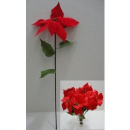 "72 Units of 23.5"" Poinsettia Flower - Artificial Flowers"