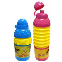 48 Units of Looney Tunes Foldable Sport Bottle 17oz - Baby Utensils