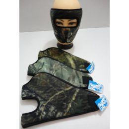 12 Units of Wrap Around Face Mask [Hardwoods Camo] - Unisex Ski Masks