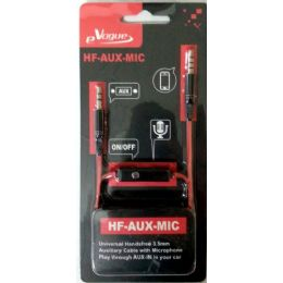 12 Units of Stereo Handsfree 3.5mm AUX-Cable with Microphone and Phone Answer Button - Cell Phone Accessories
