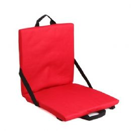 6 Units of Stadium Seat Cushion - Red - Auto Accessories