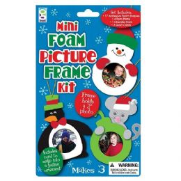 48 Units of Christmas Mini Foam Picture Frame Kit - Picture Frames