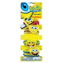 48 Units of Spongebob Squarepants Pony Tail Hold - PonyTail Holders