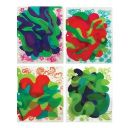 36 Units of Sassy Swirl 3d Folder - Folders and Report Covers