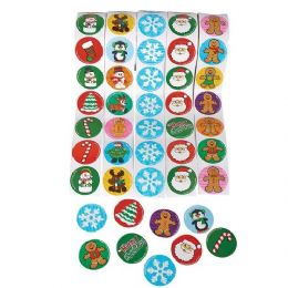 48 Units of Holiday Sticker Roll - Stickers