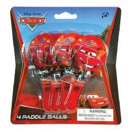 48 Units of Disney Pixar Cars 2 Paddle Ball Set - Summer Toys