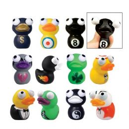 200 Units of Rubber Duckies Eye Popper Toys - Novelty Toys