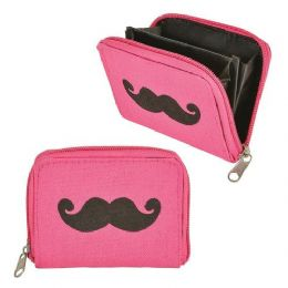 48 Units of Mustache Coin Purse - Leather Purses and Handbags