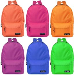 "48 Units of 17"" Bulk Classic Backpacks in 6 Assorted Colors - School and Office Supply Gear"