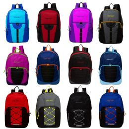 "24 Units of 17"" Mixed Backpack Assortment in 12 Assorted Styles - School and Office Supply Gear"