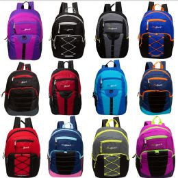 "24 Units of 17"" Mixed Bulk Backpack Assortment in 12 Assorted Styles - School and Office Supply Gear"