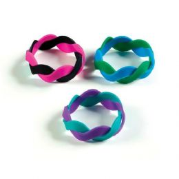 96 Units of Dual Twisted Silicone Bracelet - Women's Watches