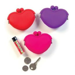 24 Units of Aww How Cute Heart Coin Purse - Leather Purses and Handbags