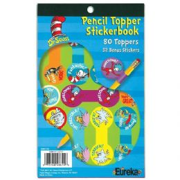 12 Units of Dr. Seuss Pencil Topper Sticker Book - Stickers