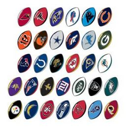 210 Units of NFL Football Prismatic Sticker Assortment - Stickers