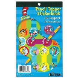 24 Units of Dr Seuss Pencil Topper Sticker Book - Stickers