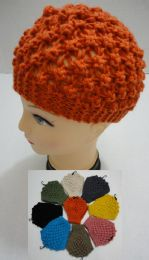 12 Units of Wide Hand Knitted Ear Band [solid Color] *loop - Ear Warmers