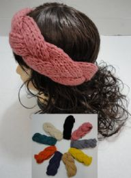 12 Units of Hand Knitted Ear Band [braided Loop] - Ear Warmers