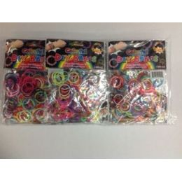 144 Units of 300 Pc Count Loom Bands Asst Colors - Novelty Toys
