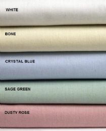 12 Units of Thread Count 180 Percale Pillowcase In Crystal Blue King Size - Pillow Cases