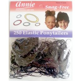 48 Units of Elastic Ponytail 250 Pack - PonyTail Holders