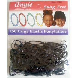 48 Units of Elastic Ponytails Large Size 150 Pack - PonyTail Holders