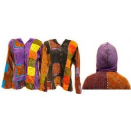 12 Units of Nepal Handmade Cotton Jackets With Hood Block - Womens Sweaters & Cardigan