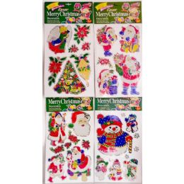 144 Units of Closeout Assorted Christmas Lazer Stickers - Stickers