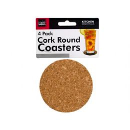 72 Units of Round Cork Coasters - Coasters & Trivets