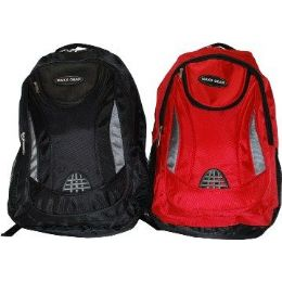 "24 Units of 19"" Ballistic Nylon BackpacK-Red Only - Backpacks 18"" or Larger"