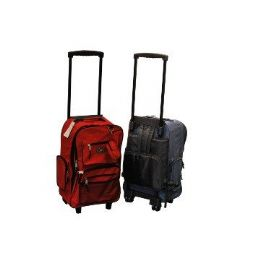 "24 Units of 19"" Rolling BackpacK-Red Only - Backpacks 18"" or Larger"