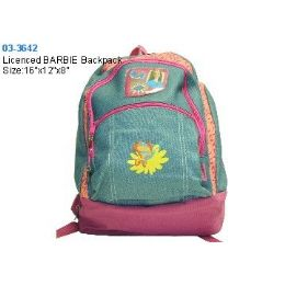 12 Units of Licenced BARBIE Backpack - Backpacks 16""