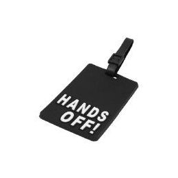"""100 Units of """"HANDS OFF"""" Luggage Tag-Black color"""