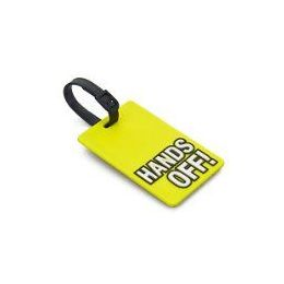 "100 Units of ""HANDS OFF"" Luggage Tag-Yellow color - Travel/ Luggage Items"