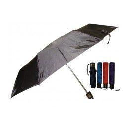 60 Units of 37 Inches Supermini Tri-Fold Solid Color Umbrella - Umbrellas & Rain Gear