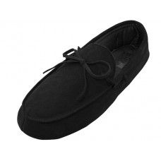 24 Units of Men's Leather Upper Moccasin Insulated Shoes ( - Men's Slippers