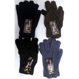120 Units of Lady Magic Glove Assorted colors - Knitted Stretch Gloves