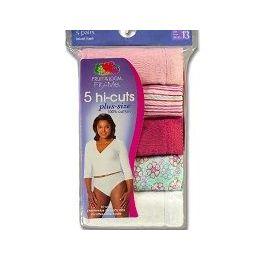 48 Units of FRUIT OF THE LOOM 5PK. LADIES PLUS SIZE PANTIES - Womens Panties & Underwear