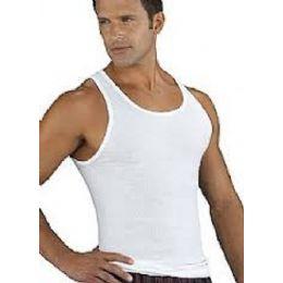 24 Units of Famous Brand Men's 3pk White A-Shirts - Mens T-Shirts