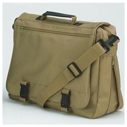 12 Units of Goh Getter Expandable Briefcase - Tan - Lunch Bags & Accessories