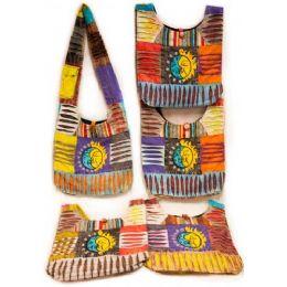 10 Units of Handmade Nepal Hobo Bags Sun Moon Patch Design