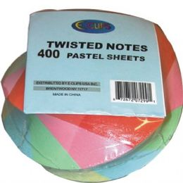 48 Units of Twisted Note Paper - Pastel Colors 400 Sheets - Dry Erase