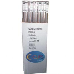 "72 Units of Cellophane Wrap Transparent 30""x5' 1"" Core - Gift Wrap"