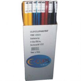 "75 Units of Cellophane Rolls - Asst. Colors - 30"" X 12.5sqft - Gift Wrap"